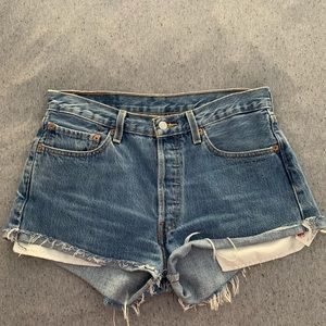 Vintage Levi's 501 Highwaisted Cutoff Jean Short